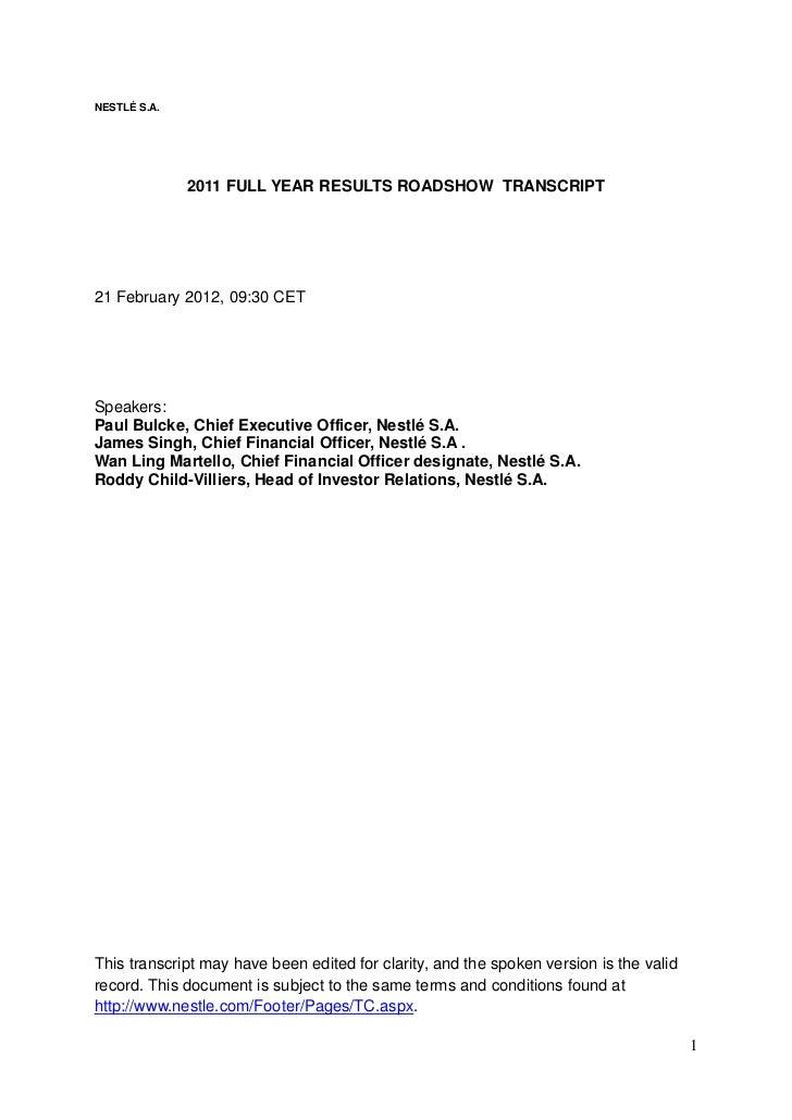February 21 Nestlé fy11 roadshow transcript (f)