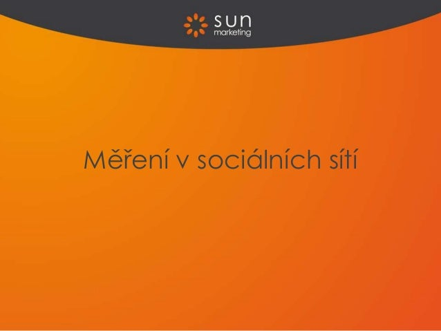 Měření v sociálních sítí