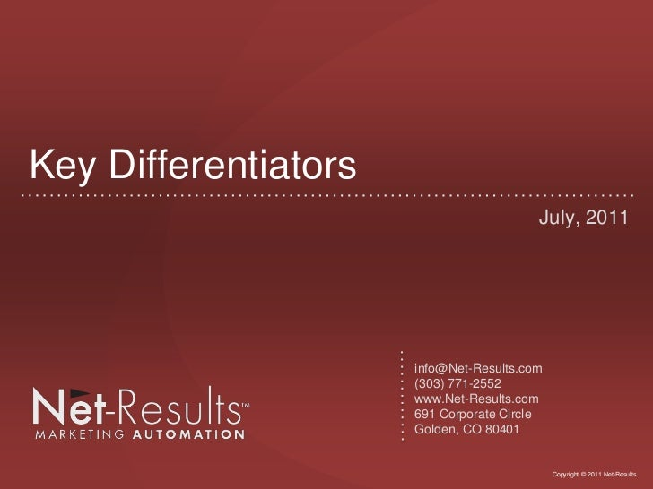 Net-Results Differentiators