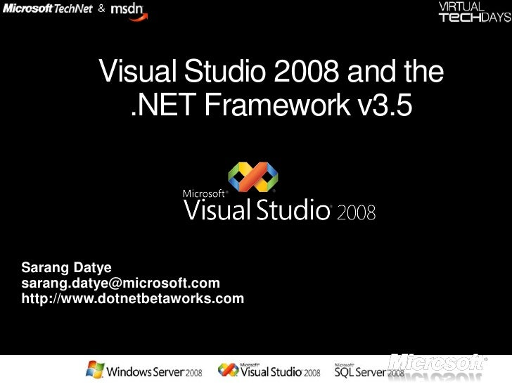 .net 3.5 and vs 2008