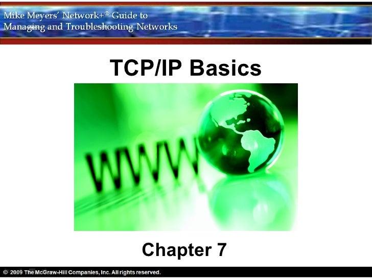 TCP/IP Basics  Chapter 7