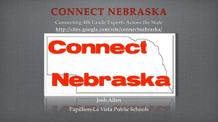 CONNECT NEBRASKA Connecting 4th Grade Experts Across the State http://sites.google.com/site/connectnebraska/              ...