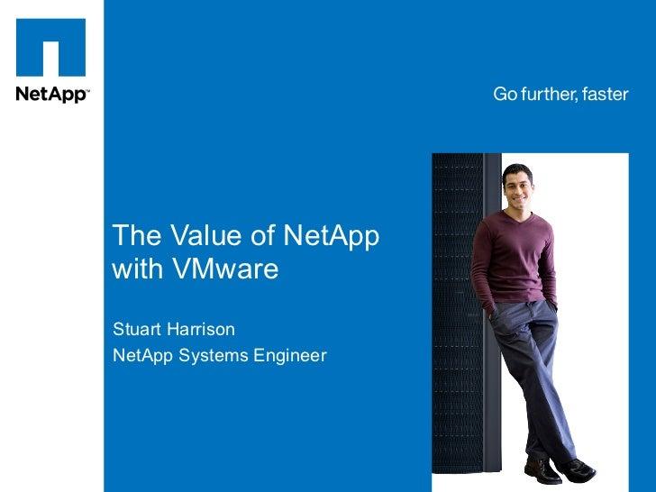 Tag line, tag lineThe Value of NetAppwith VMwareStuart HarrisonNetApp Systems Engineer