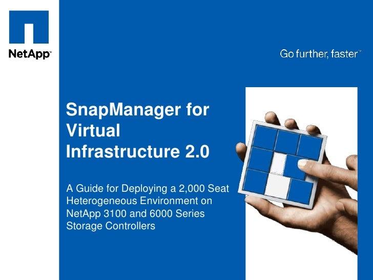 NetApp SMVI 2.0 - VMworld Mini Theatre