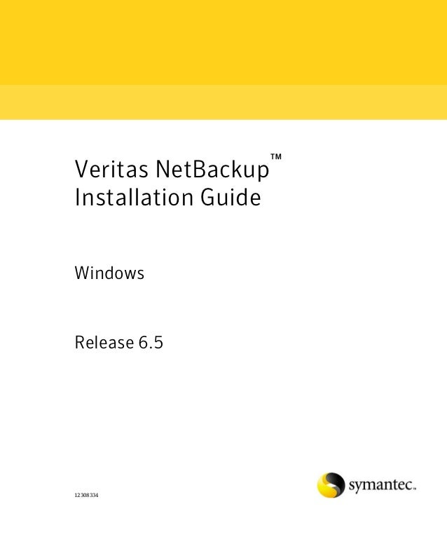 Netbackup intallation guide