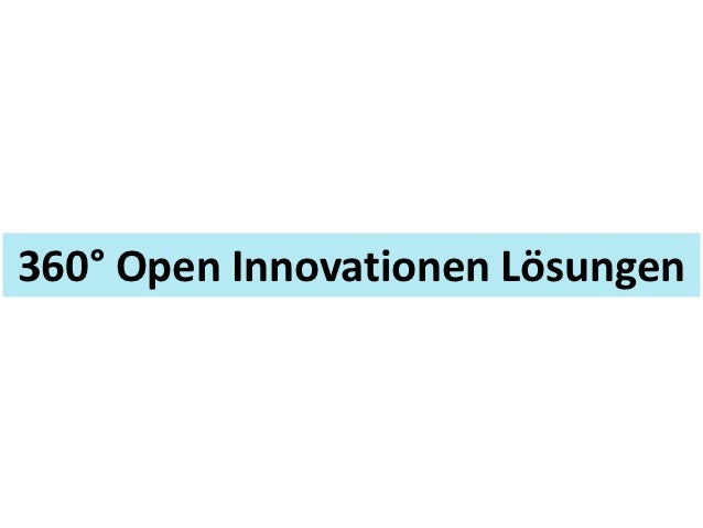 360° Open Innovationen Lösungen