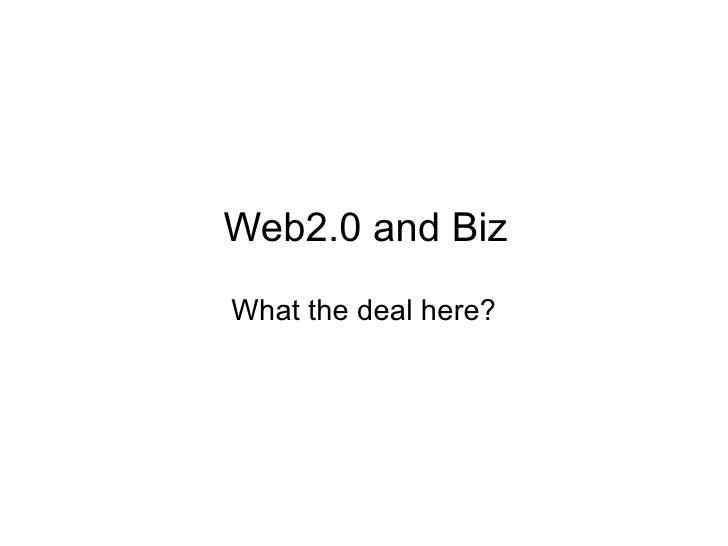 Web 2.0 & Biz