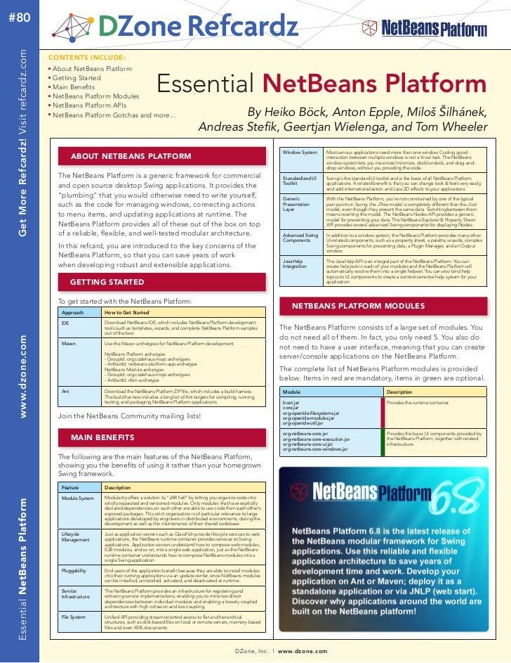 Netbeans-platform ref_card