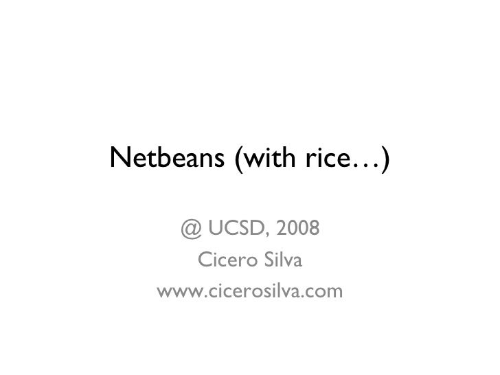 Lecture about Netbeans for Art & Technology at UCSD