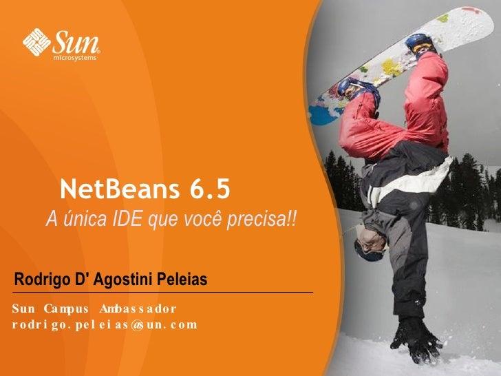 Rodrigo D' Agostini Peleias NetBeans 6.5 A única IDE que você precisa!! Sun Campus Ambassador [email_address]