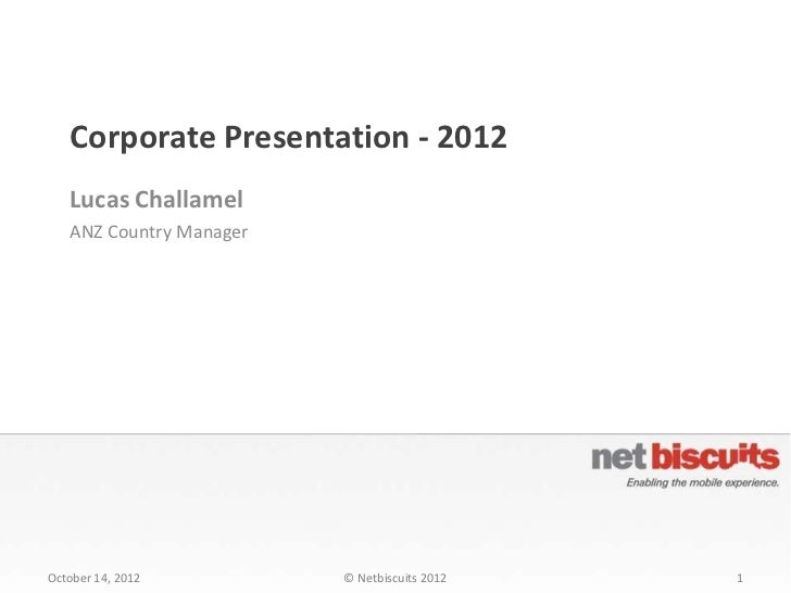 Netbiscuits corporate presentation 2012