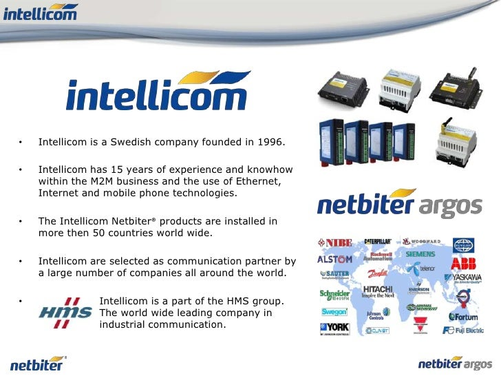 <ul><li>Intellicom is a Swedish company founded in1996.