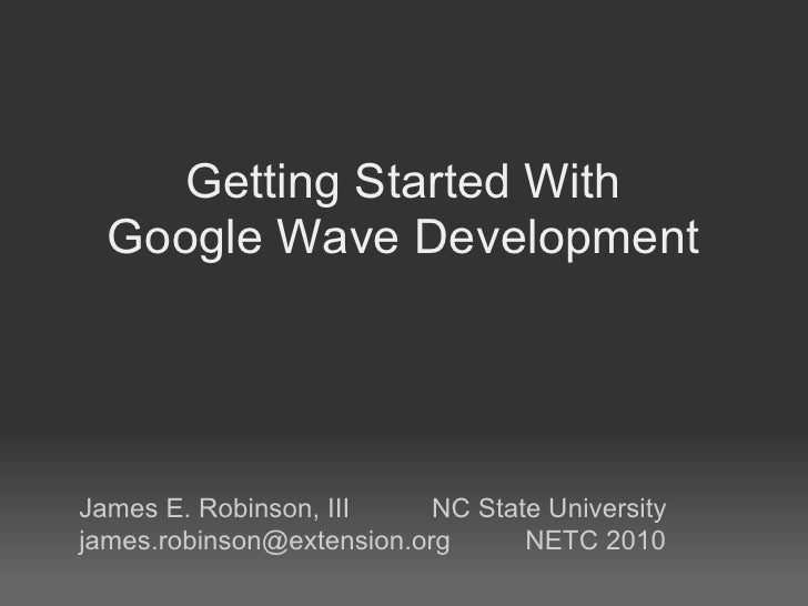 Getting Started With Google Wave Developlement