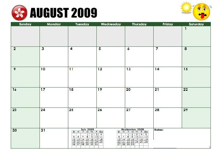 Tom's TEFL - Hong Kong NET Teacher Calendar 2009-10
