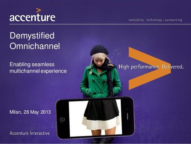 DemystifiedOmnichannelEnabling seamlessmultichannel experienceMilan, 28 May 2013
