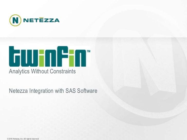 Netezza integration with SAS software