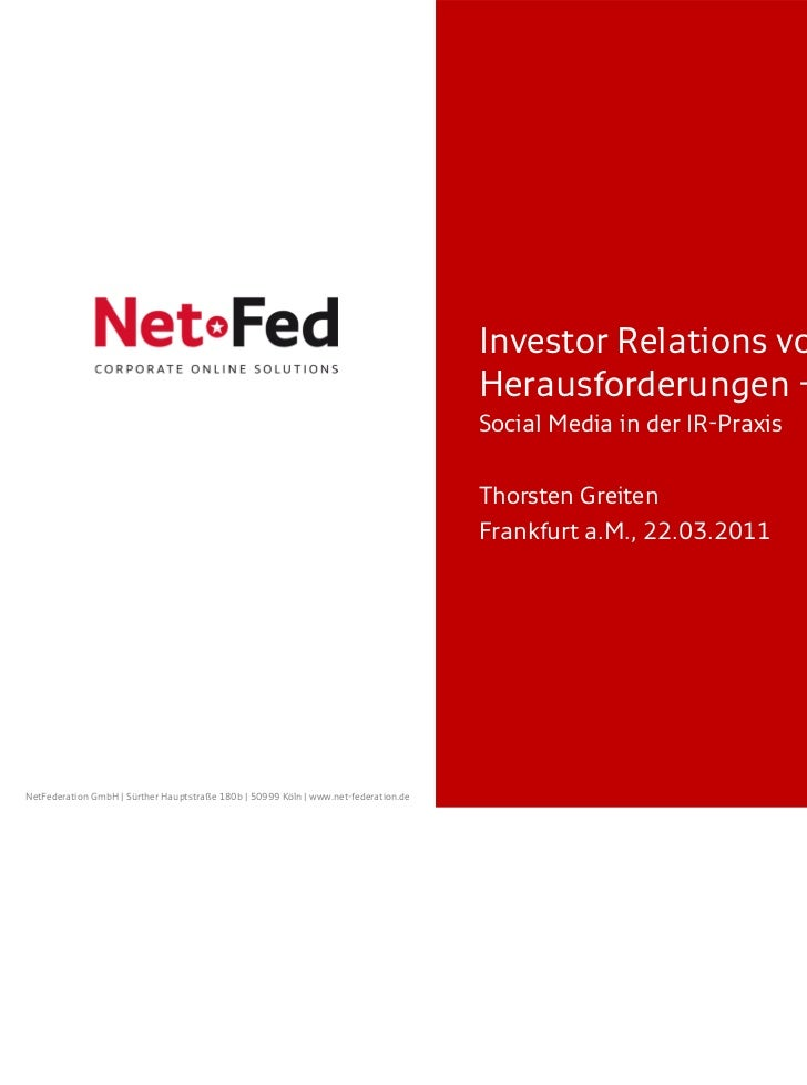 Investor Relations vor neuen                                                                                     Herausfor...
