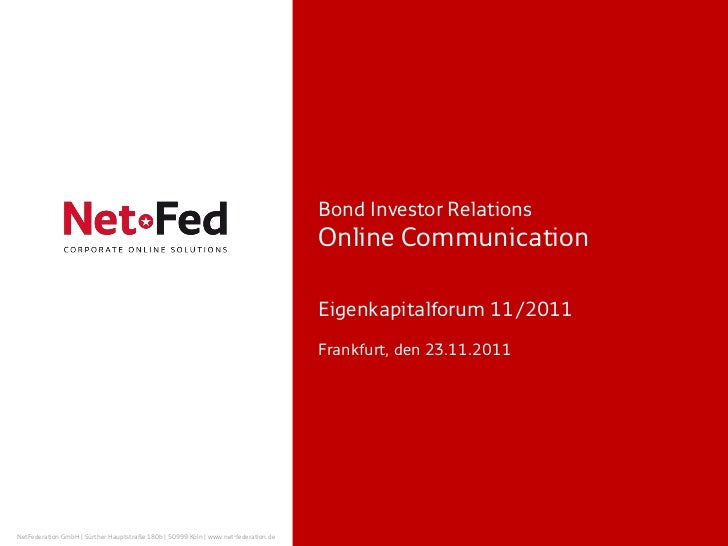 NetFed - Eigenkapitalforum 2011 - Bond Investor Relations
