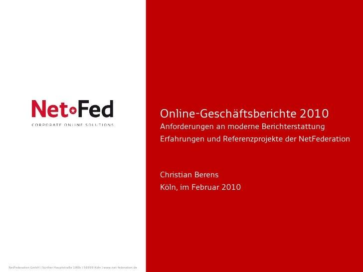 Online Geschäftsberichte 2010