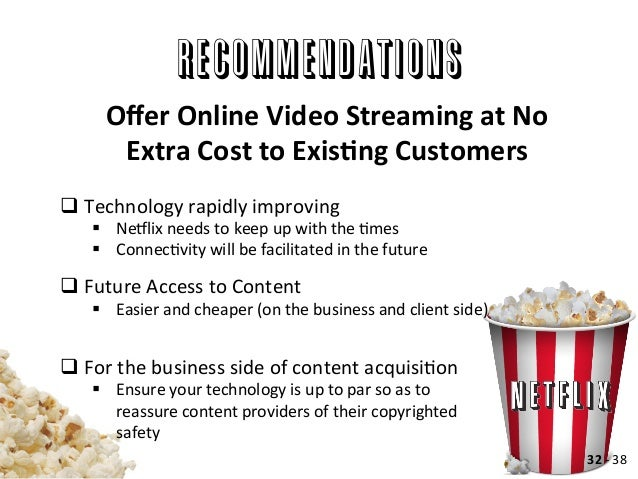 blockbusternetflix case analysis essay Read netflix free essay and over 88,000 netflix case study the video rental industry began with the major competitors of netflix are blockbuster.