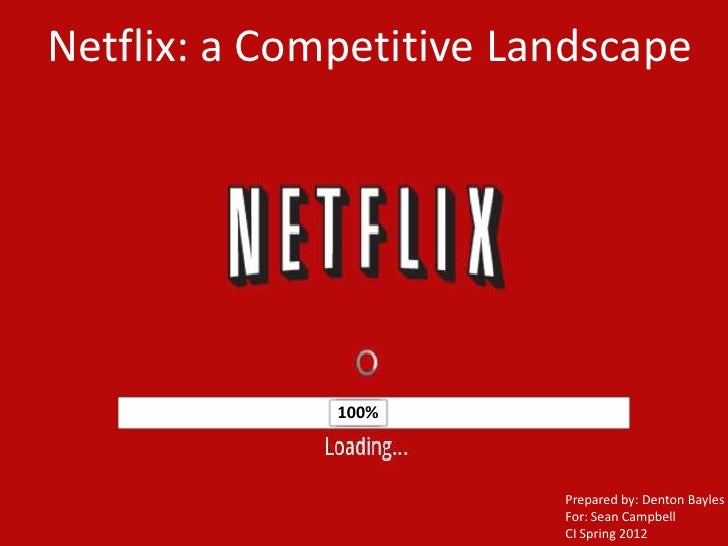 Netflix: a Competitive Landscape              100%              50%              10%                         Prepared by: ...