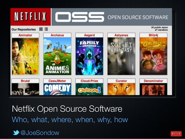 @JoeSondow Netflix Open Source Software Who, what, where, when, why, how