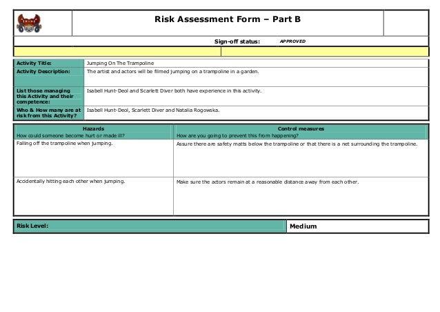 Risk assessment for Gardening risk assessment
