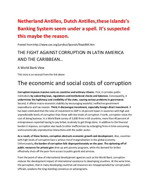 Netherland Antilles, Dutch Antilles,these Islands'sBanking System seem under a spell. It's suspectedthis maybe the reason....