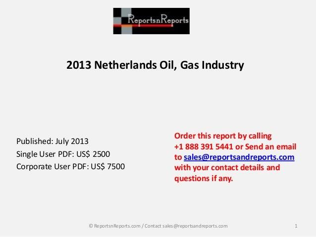 2013 Netherlands oil, gas market