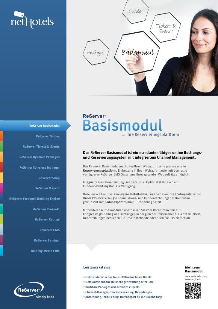 ReServer Basismodul                ReServer Guides                                    Basismodul                    … Ihre...