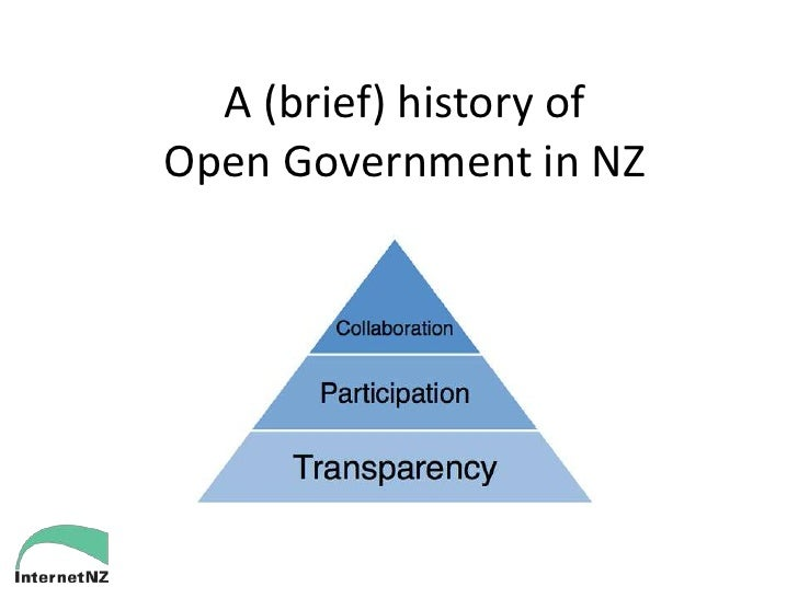 A (brief) history ofOpen Government in NZ