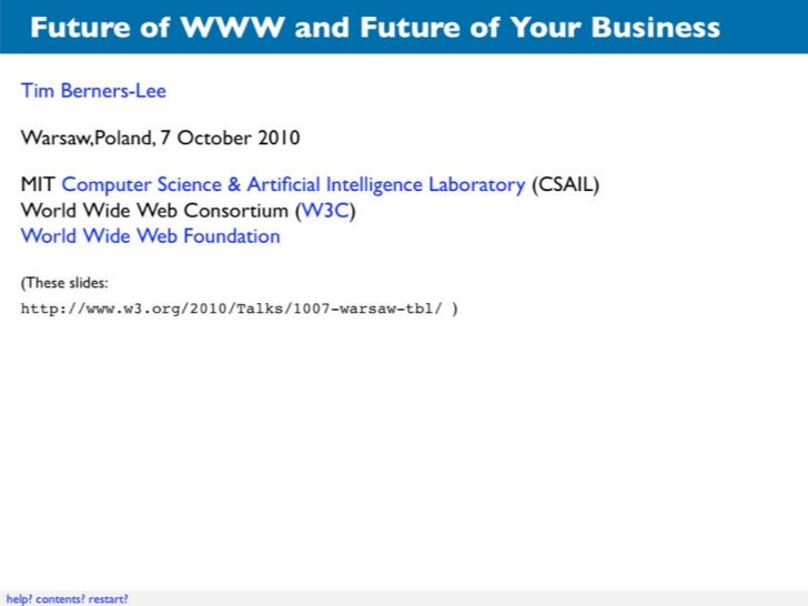 """""""Future of WWW and Your Business"""""""