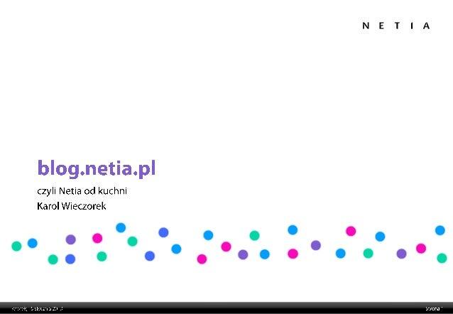 Blog Netia 2013