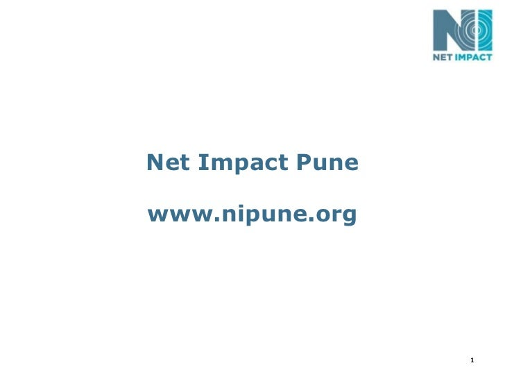 Net Impact Pune Professional Chapter - 2011