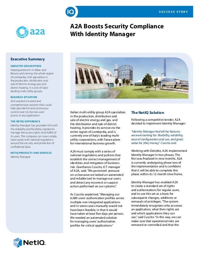 SUCCESS STORY                                            A2A Boosts Security Compliance                                   ...