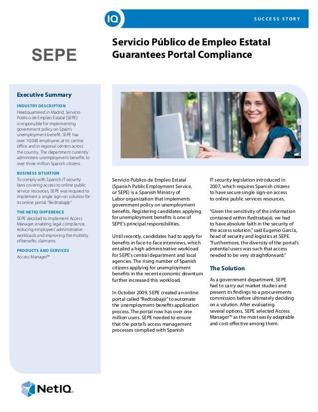 NetIQ Customer Success Story - SEPE
