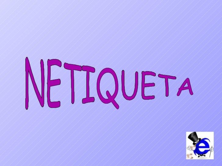 NETIQUETA
