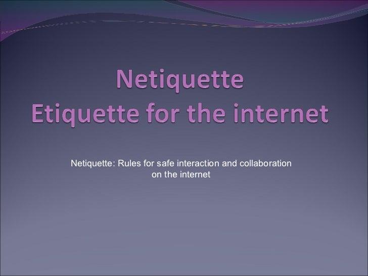 Netiquette 523