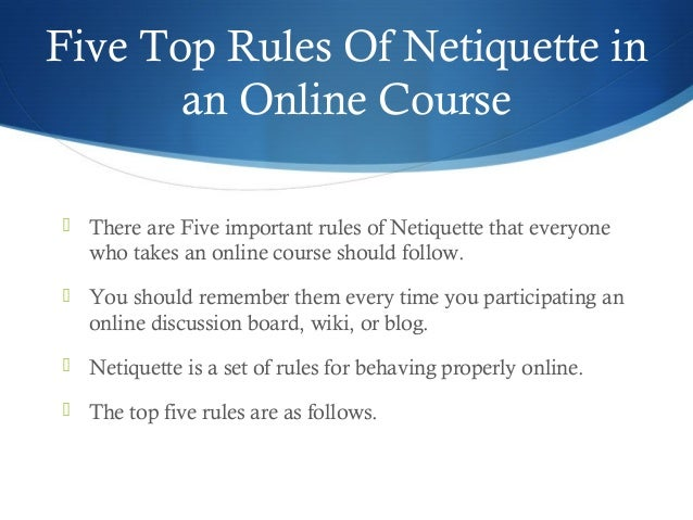 "an analysis of netiquette Netiquette, a social code that defines ""good"" online behavior is something to keep in mind during your online course interactions."