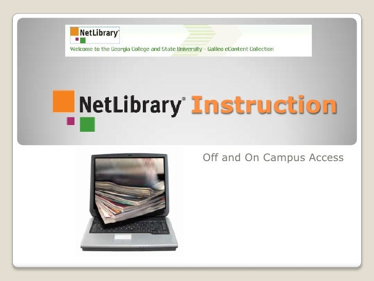 Net Library Instruction