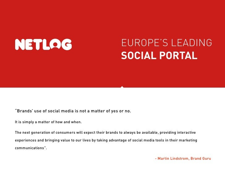 "EUROPE'S LEADING                                                             SOCIAL PORTAL     ""Brands' use of social medi..."