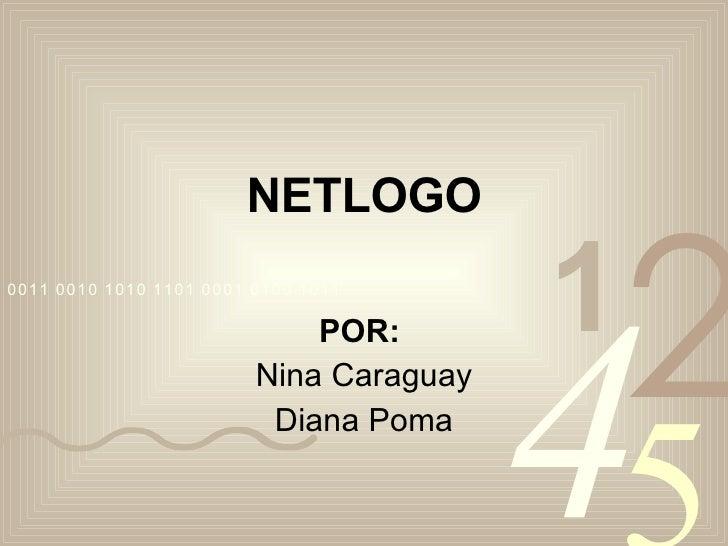 NETLOGO POR:   Nina Caraguay Diana Poma