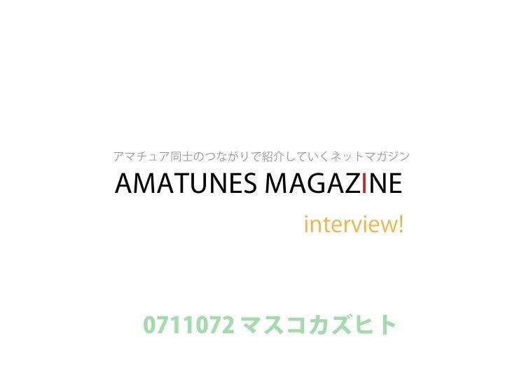 AMATUNES MAGAZINE