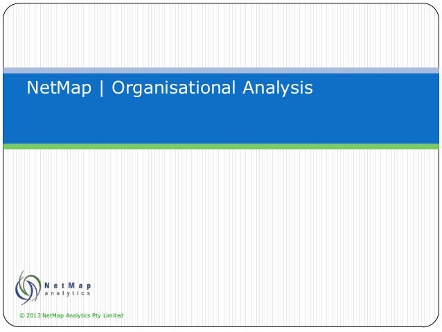 NetMap for Organisational Analysis and Restructuring