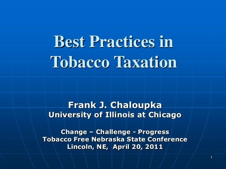 Nebraska Tobacco Tax 04-20-11
