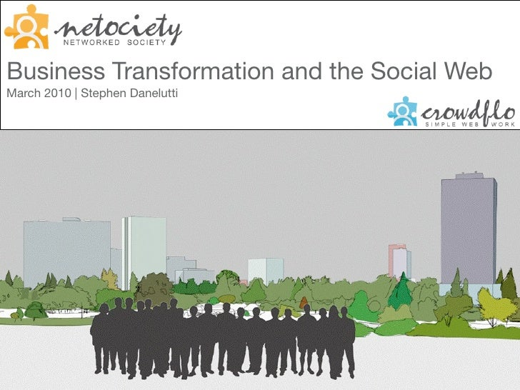 Business Transformation and the Social Web March 2010 | Stephen Danelutti