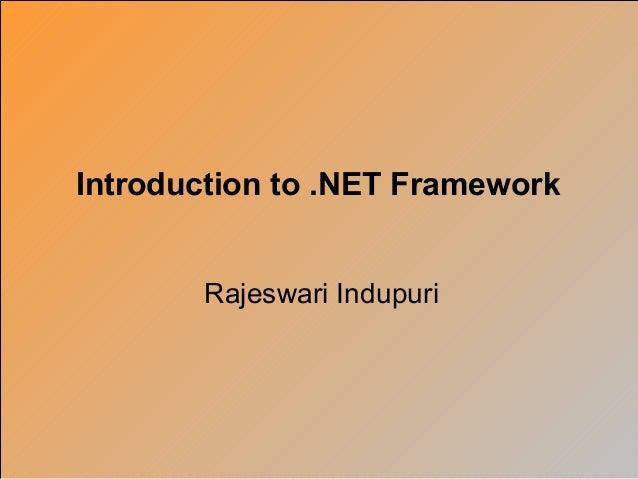 Net overview