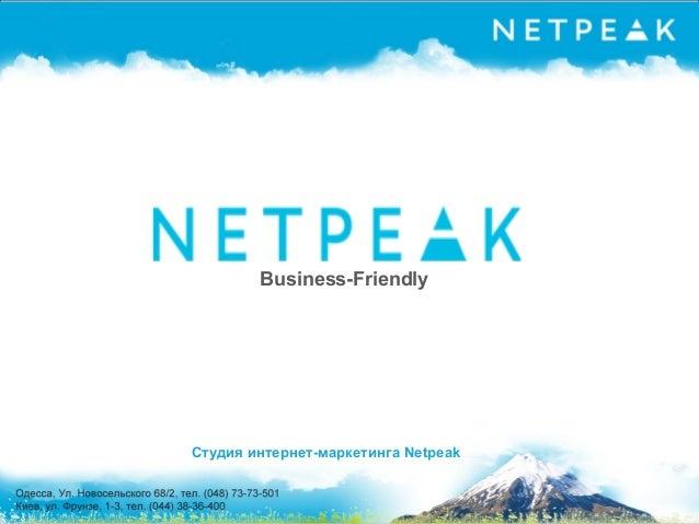 Презентация про Netpeak для студентов ОНАС