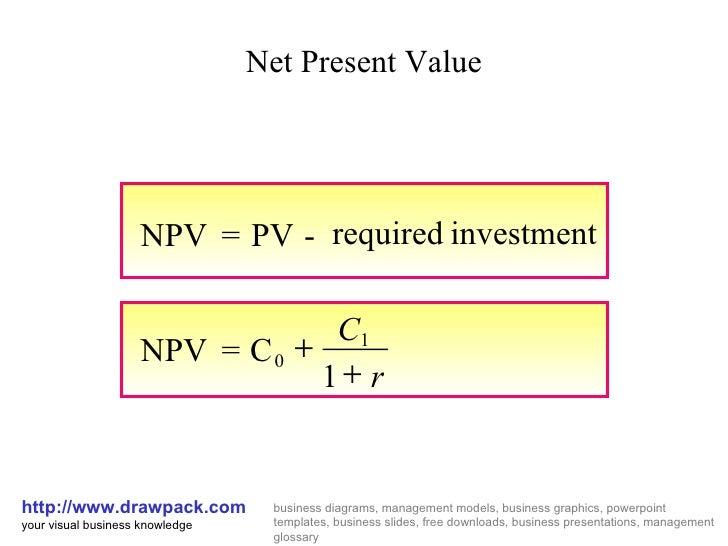 Net present value present value index