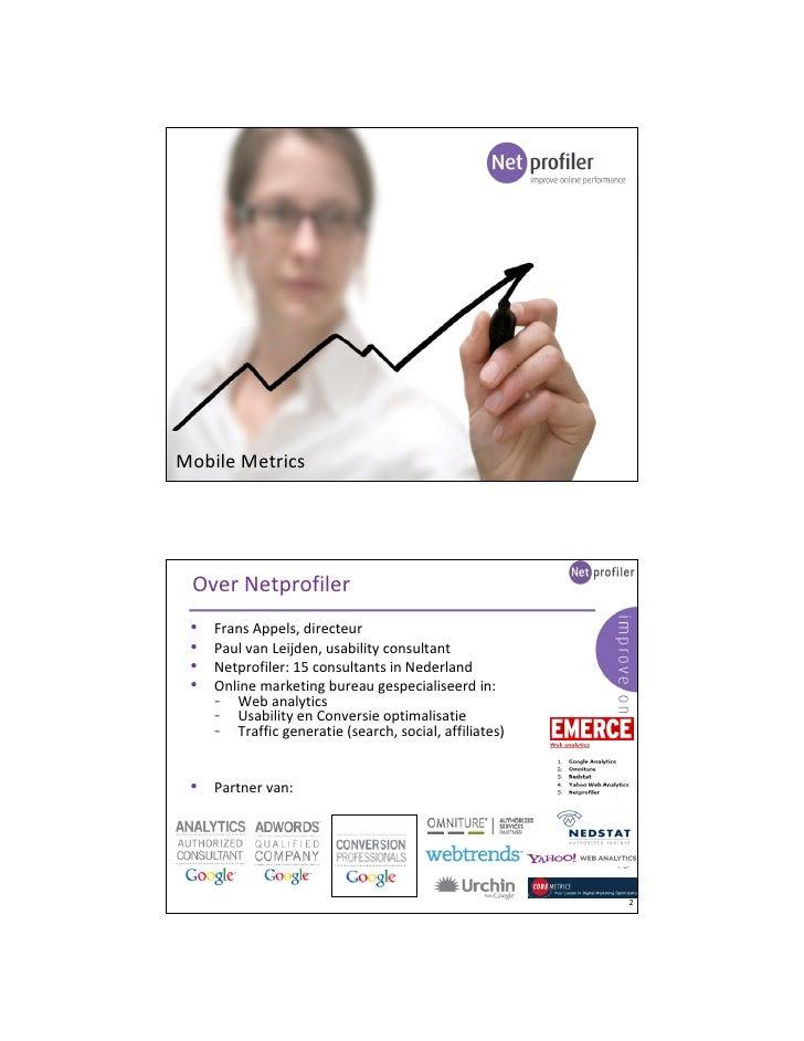 MobileMetrics session by Netprofiler